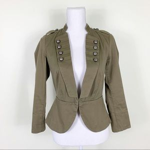 H&M | Green Military Blazer